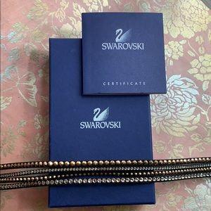 Swarovski Rose Gold/Black Wrap Bracelet